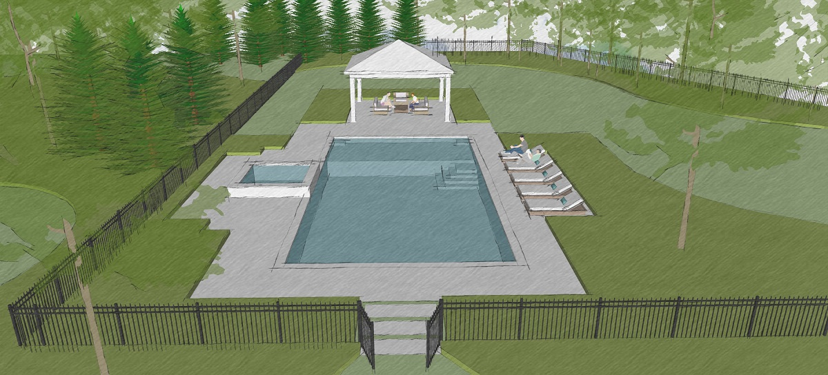 Our Swimming Pool Design Team Is Working On Some Concepts For A Project In  Hunterdon County, New Jersey.